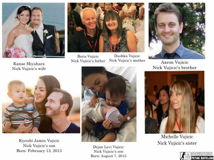 nick vujicic family members