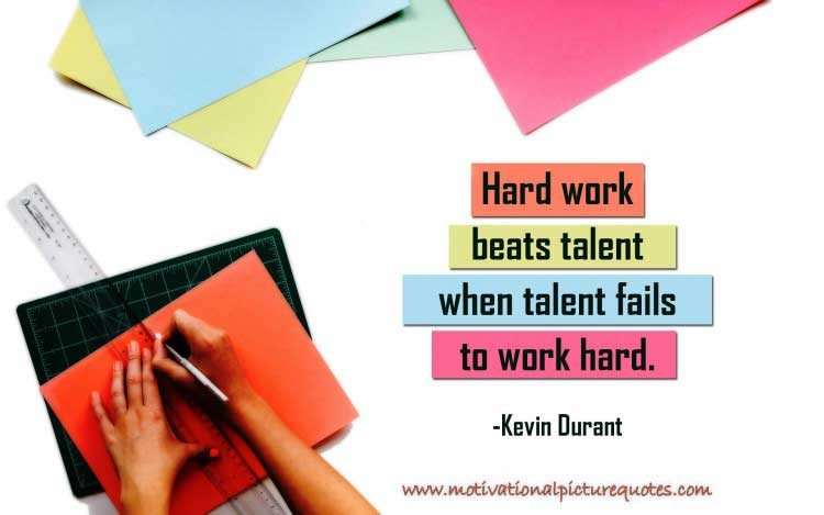 Motivational Hard Work Quote by Kevin Durant