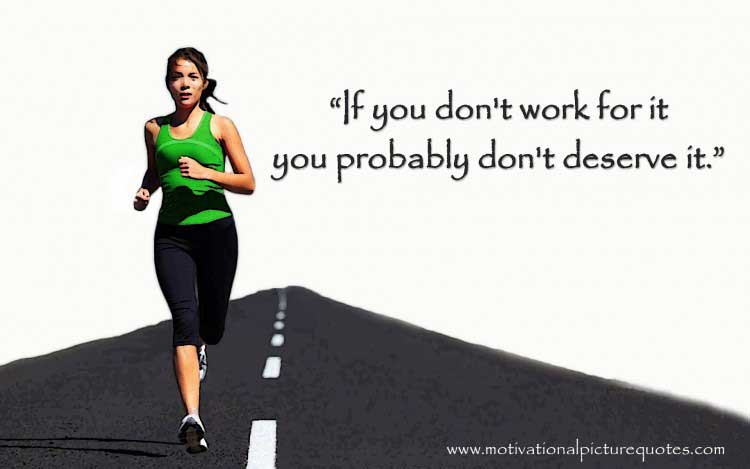 Inspirational quote on workout