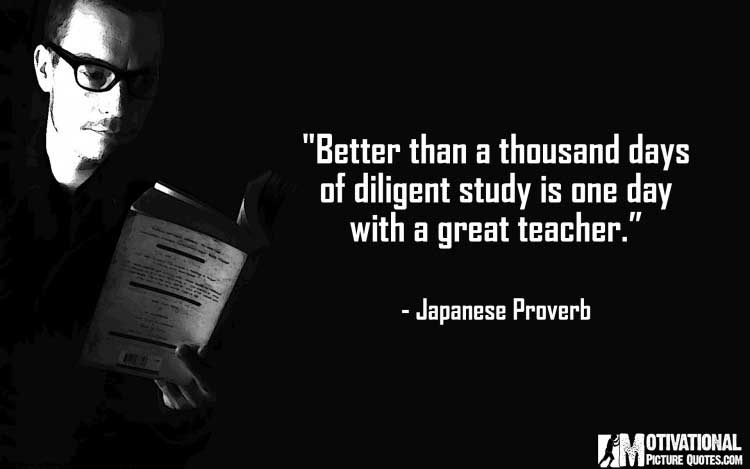 Japanese Proverb on teaching