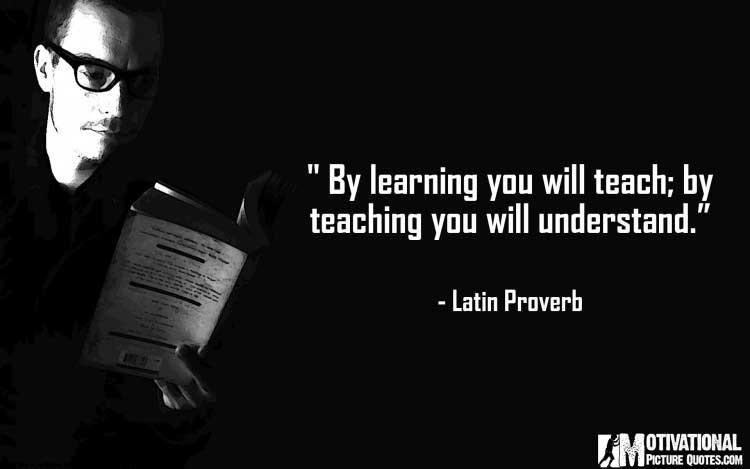 Latin Proverb on teachers