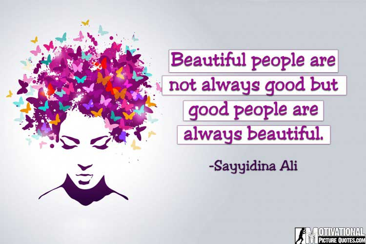 True Beauty Quotes Images by Sayyidina Ali