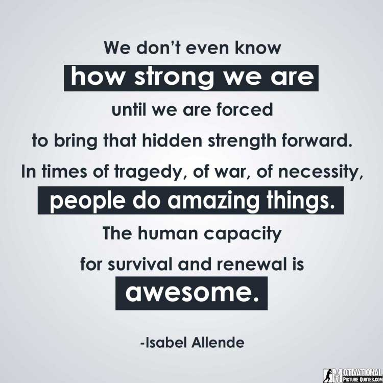 quotes to be strong by Isabel Allende