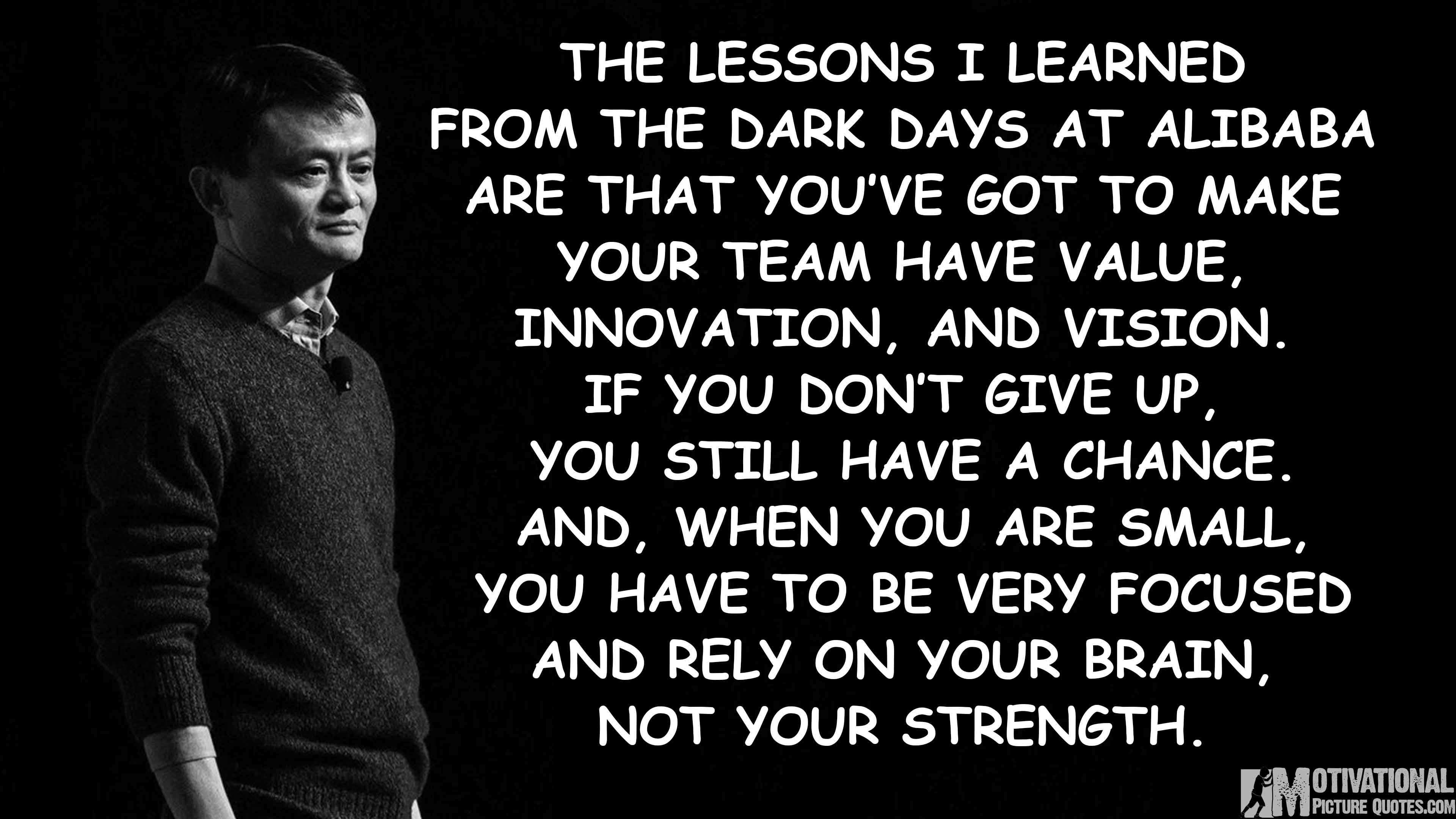 Quotes On Innovation Alibaba Founder Jack Ma Quotes For Entrepreneurs  Insbright