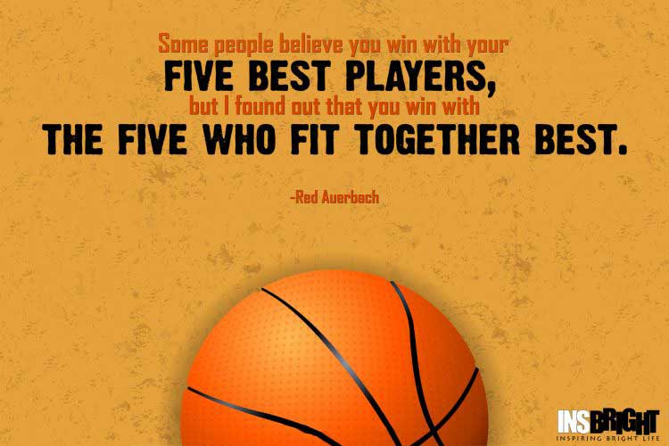 basketball inspirational quotes by Red Auerbach
