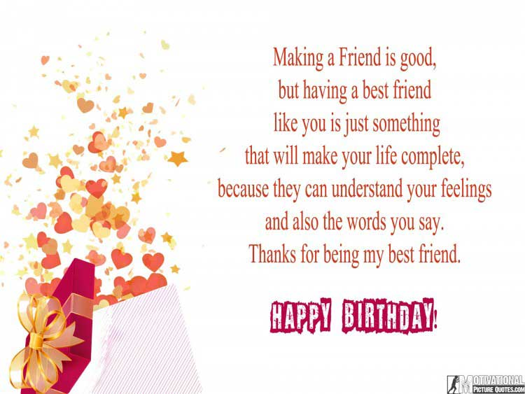 birthday message for friend
