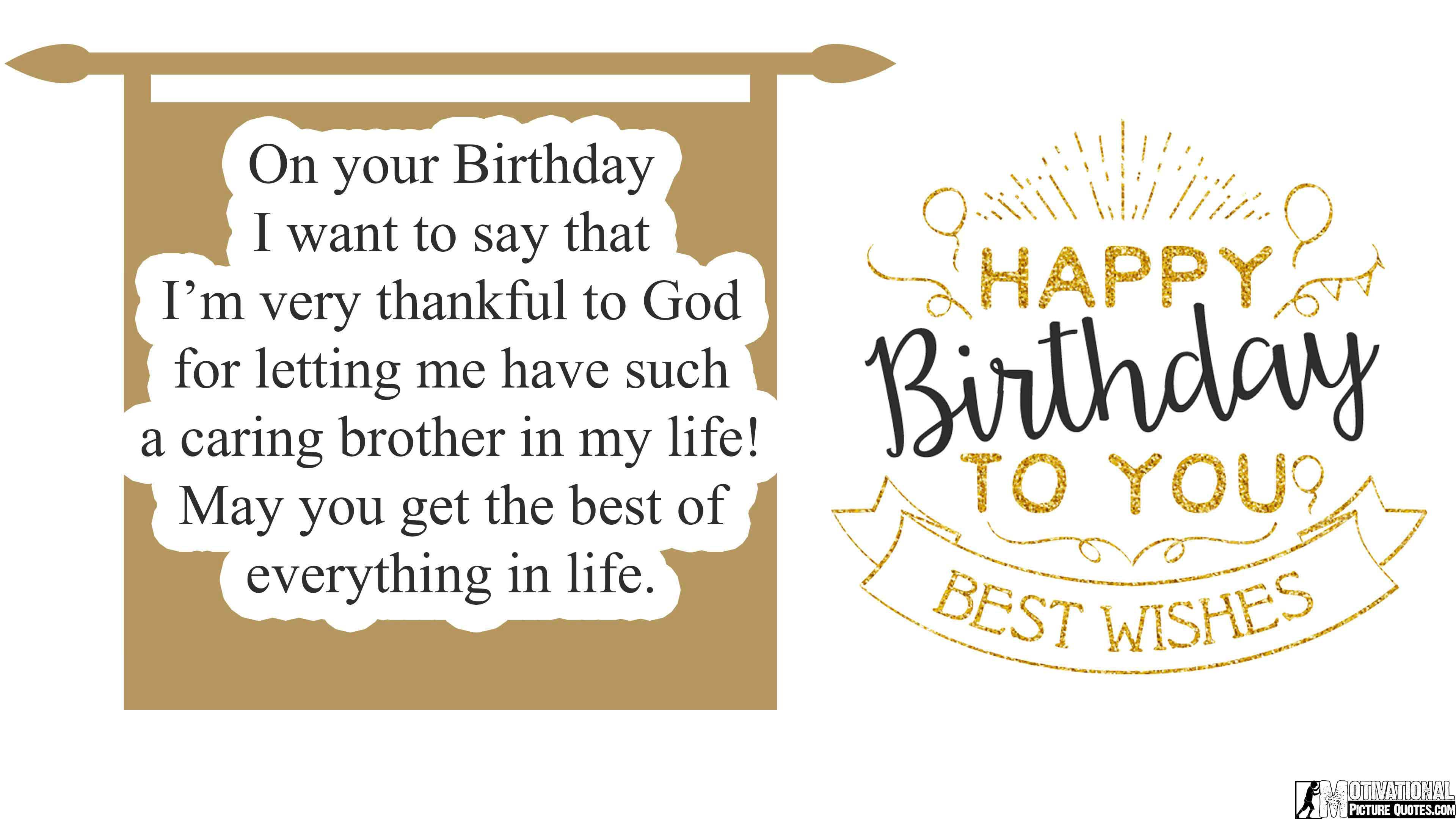 Quotes About Loving Your Brother 35 Inspirational Birthday Quotes Images  Insbright