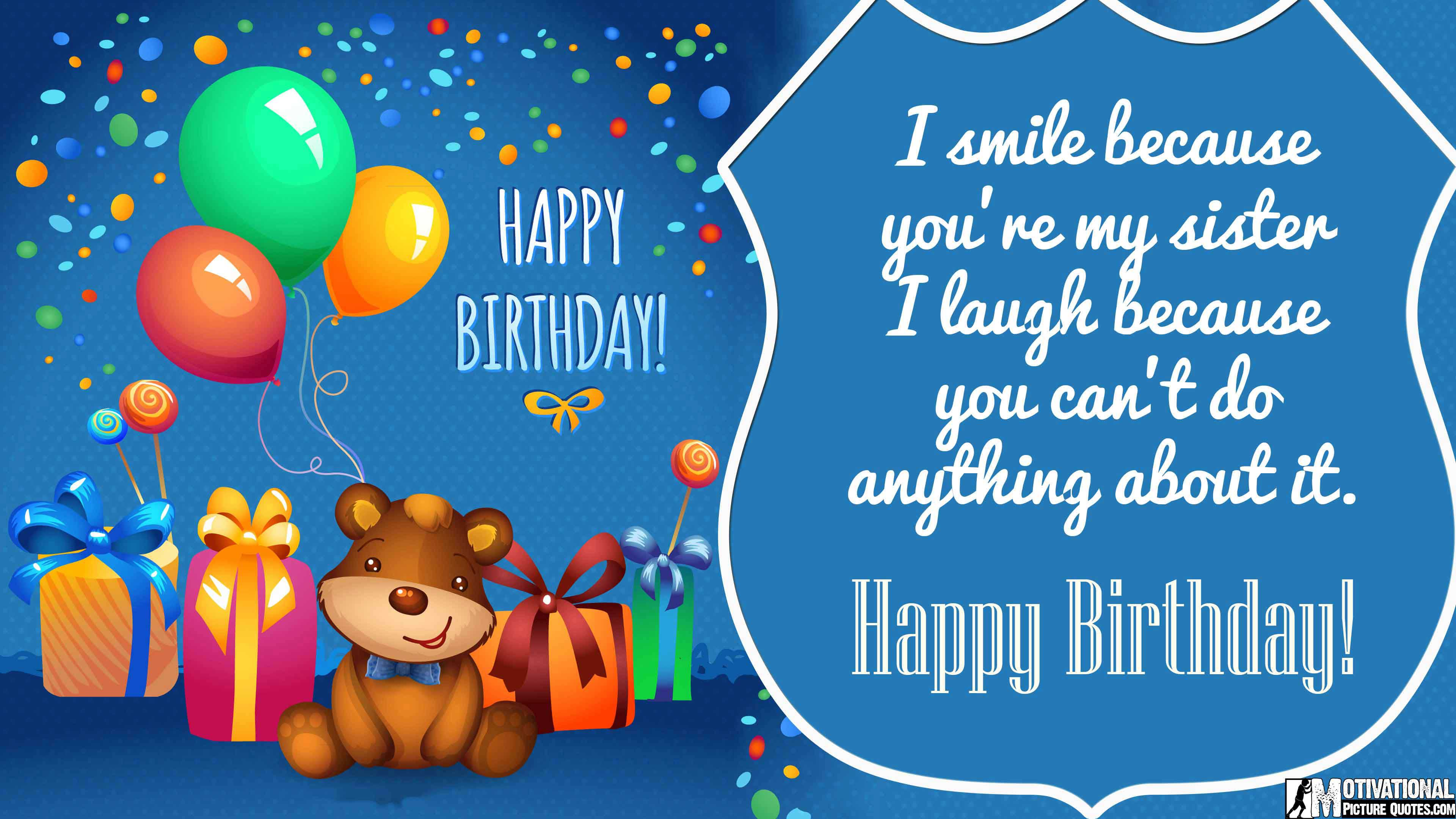 35 inspirational birthday quotes images insbright cute birthday messages for sister m4hsunfo