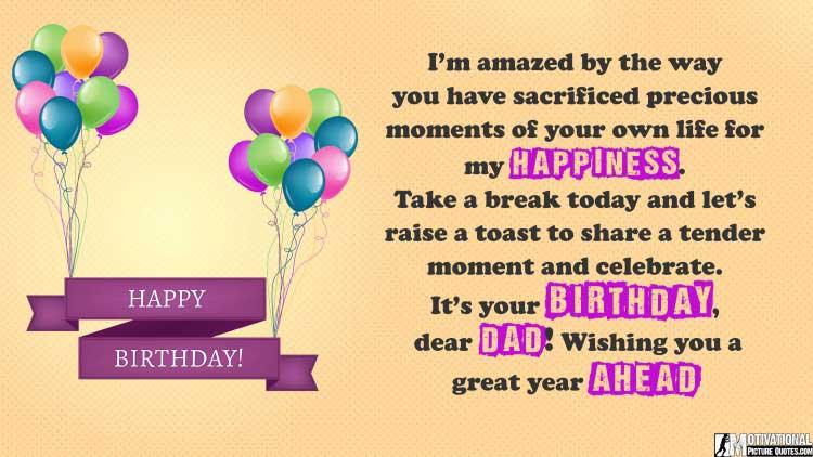 happy birthday quotes dad