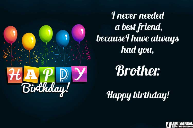 happy birthday quotes for brother