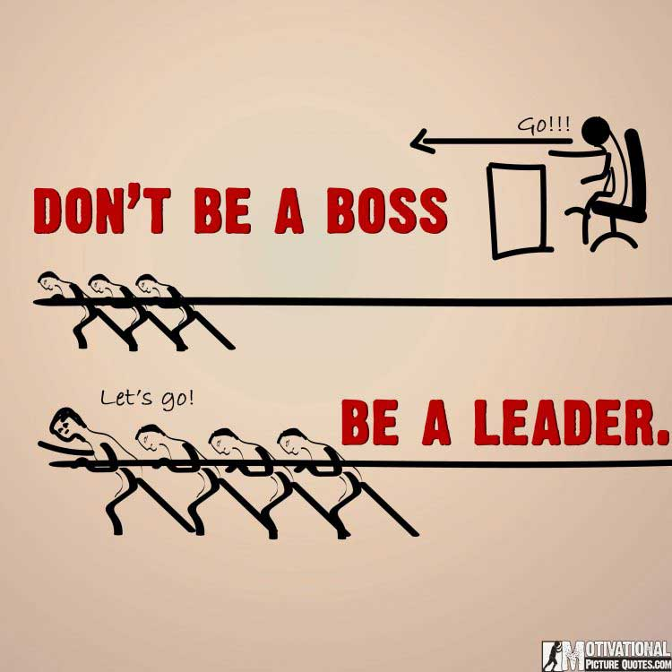 motivational boss vs leader poster posters