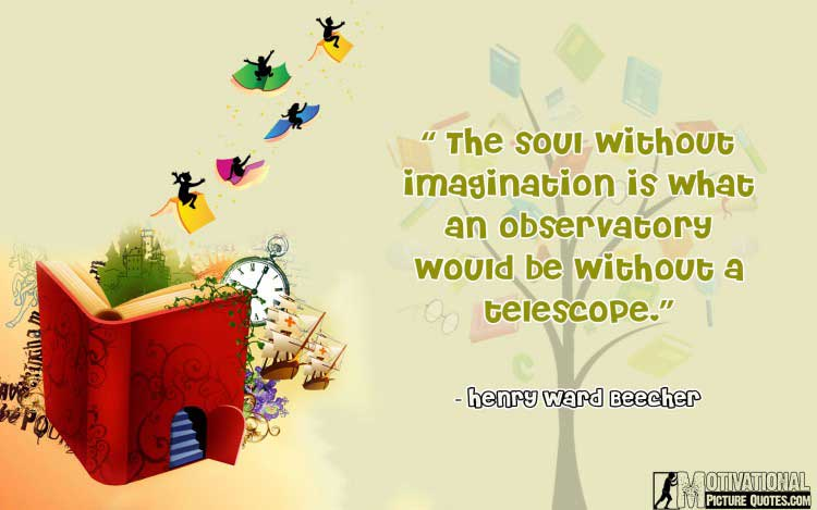 Henry Ward Beecher quotes about imagination