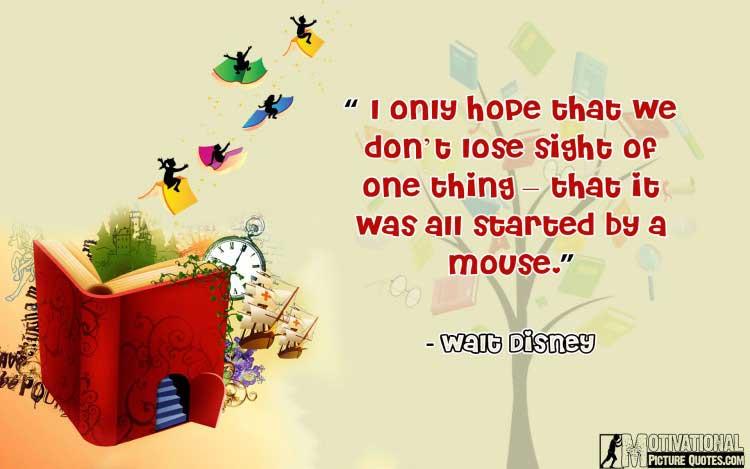 Walt Disney quotes about imagination