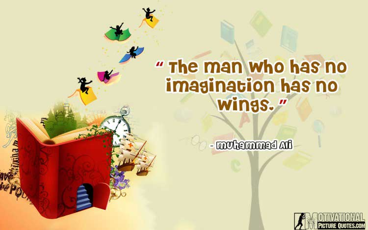 Muhammad Ali quote on imagination