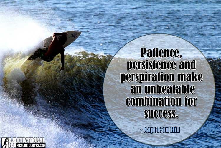 Napoleon Hill quote on persistence