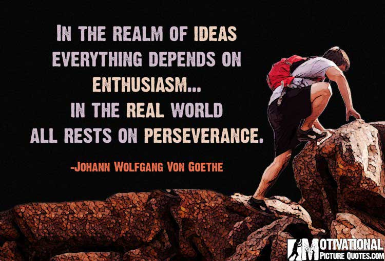 Inspirational Quotes About Perseverance by Johann Wolfgang Von Goethe