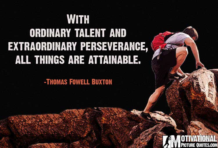 Motivational Quote About Perseverance by Thomas Fowell Buxton