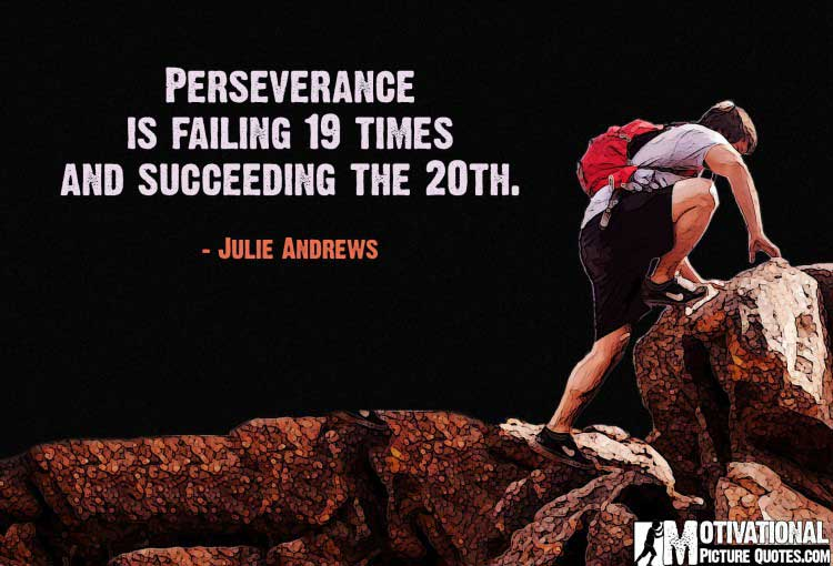 Julie Andrews Perseverance Quotes Images