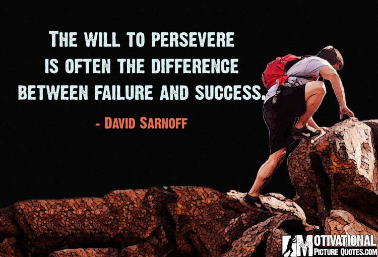 quote on perseverance by David Sarnoff
