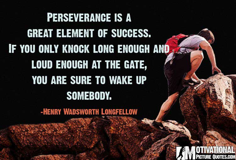 quotes about perseverance by Henry Wadsworth Longfellow