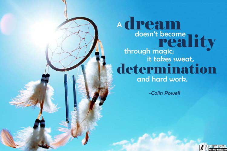 Colin Powell Determination Quote Images