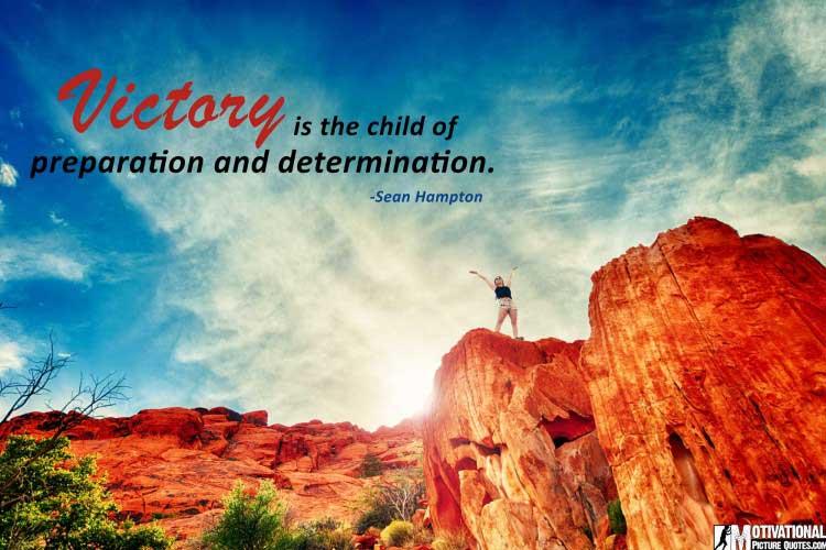 Sean Hampton quote about determination