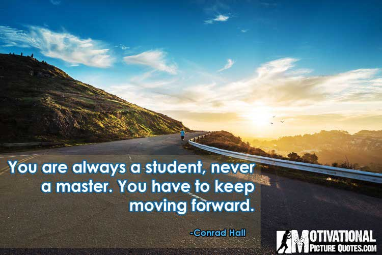 Conrad Hall quotes on moving forward