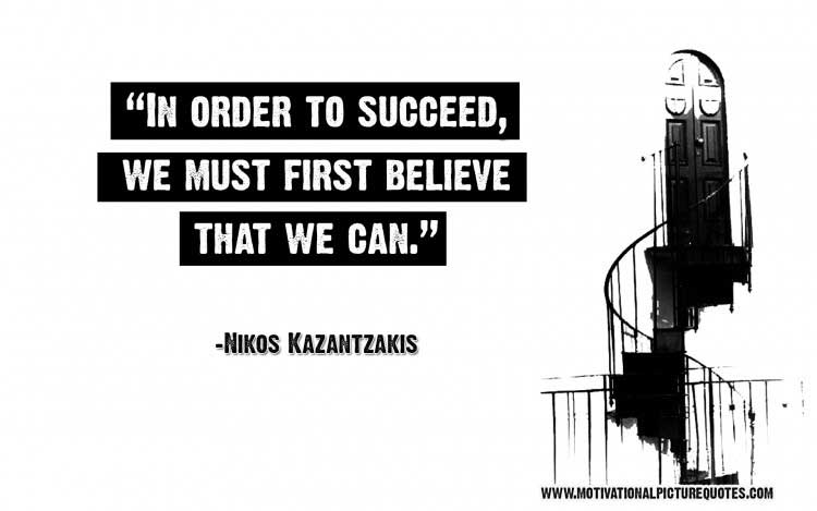 Nikos Kazantzakis quote on success