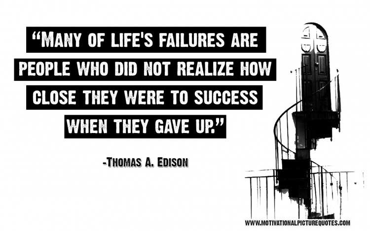 best Thomas A. Edison quote on success