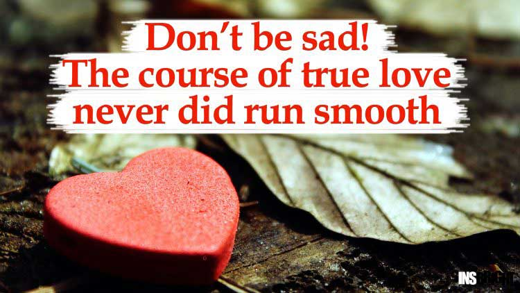 never be sad quote pic