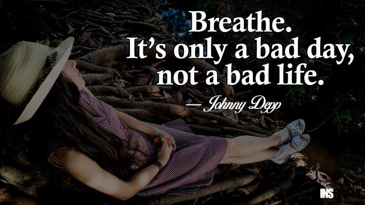 never be sad quotes by Johnny Depp