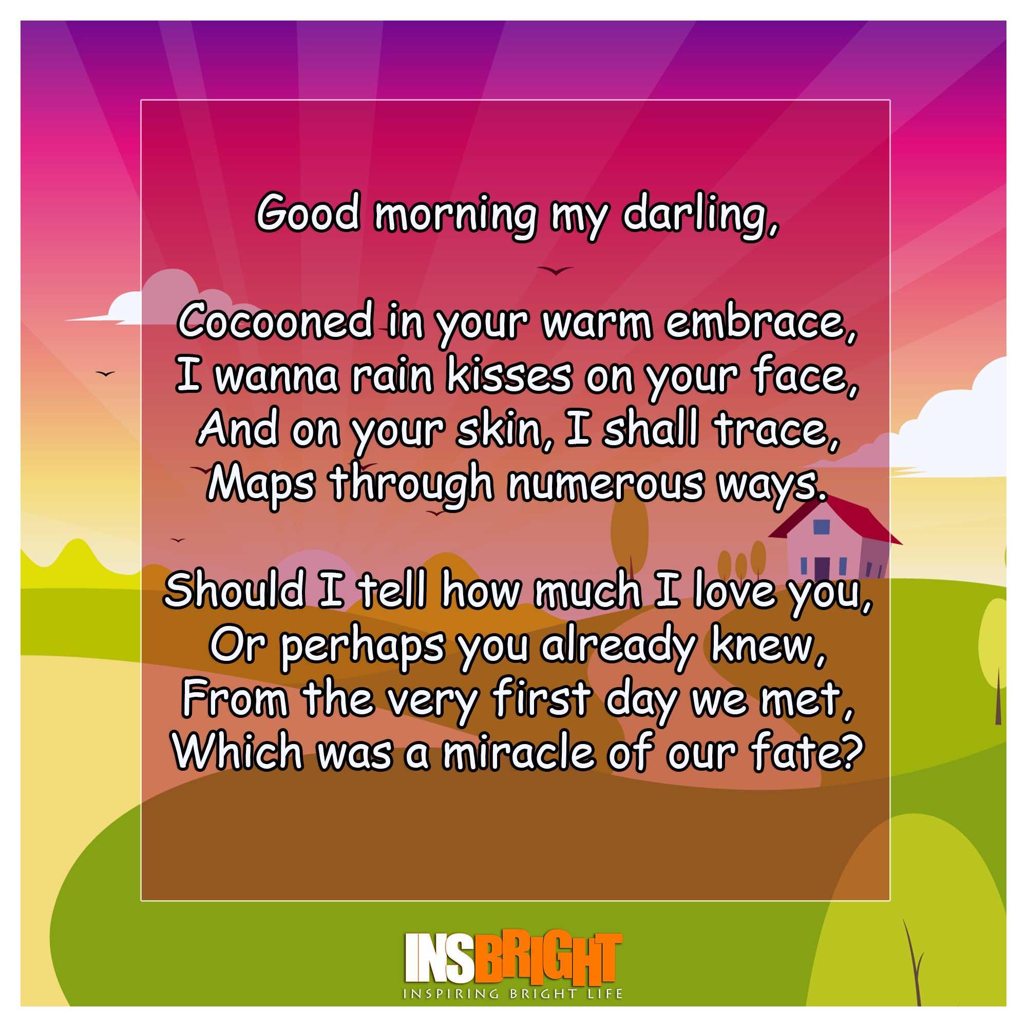 good morning darling hope you slept well poem