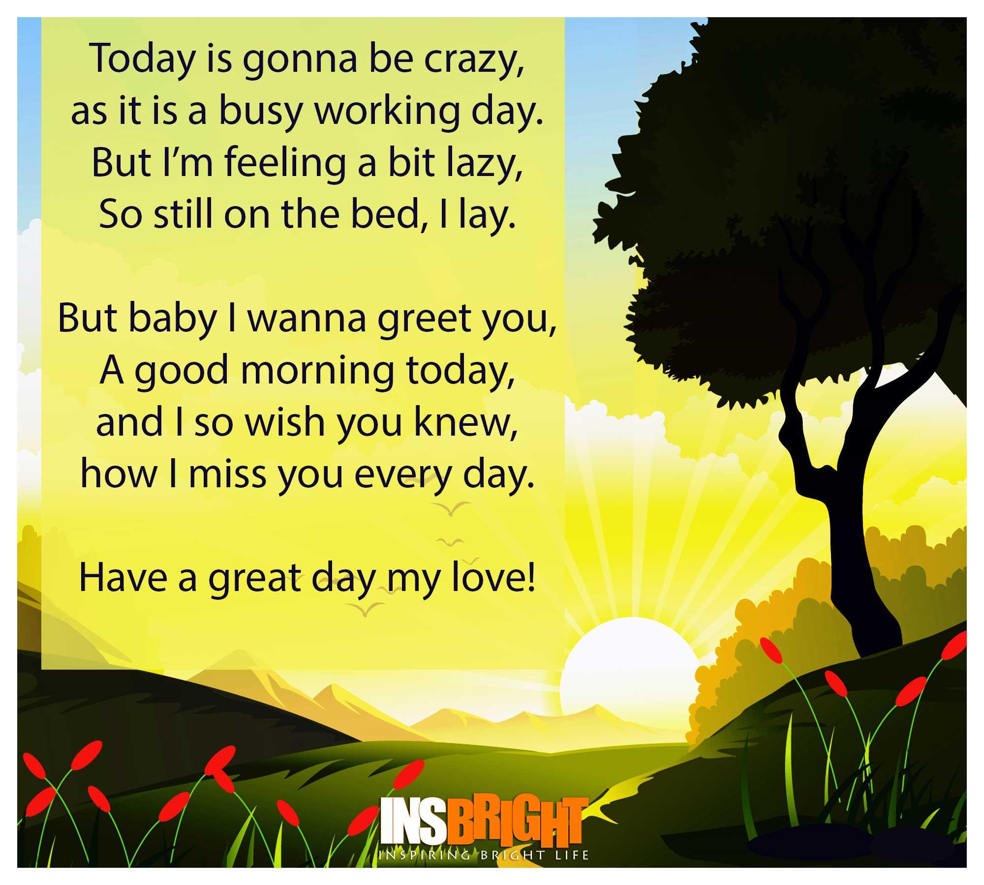Have a good day poem for her