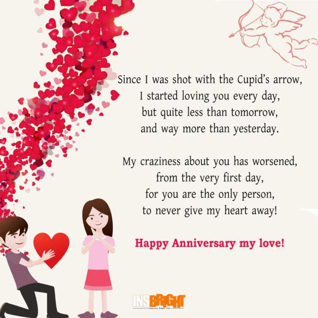 anniversary poems for girlfriend