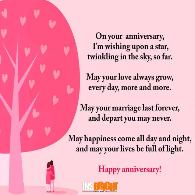Happy Anniversary To A Beautiful Couple Quotes: Cute Happy Anniversary Poems For Him Or Her With Images