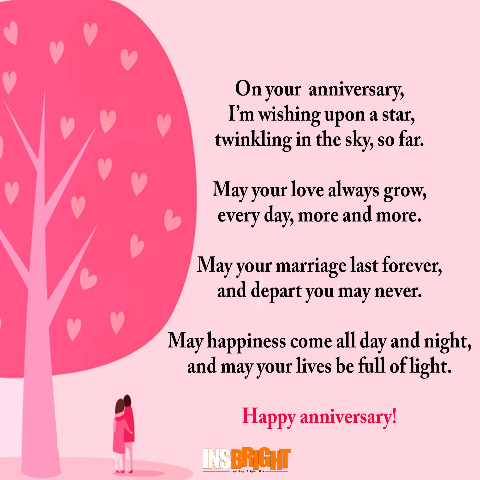 happy anniversary poem Free anniversary poems this free wedding anniversary message, in free verse, is a happy anniversary poem suitable for a greeting card inspiration.