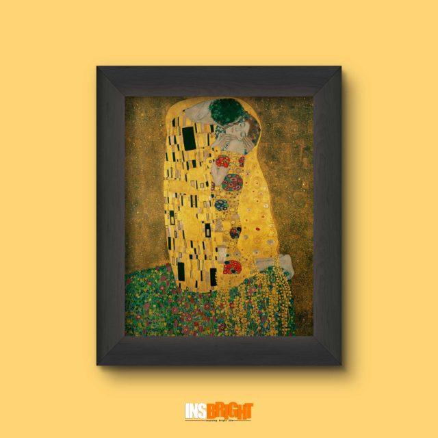 gustav klimt the kiss oil painting