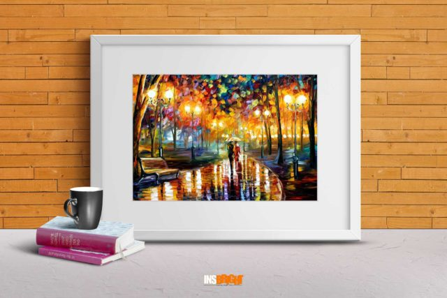 rain rustle oil painting