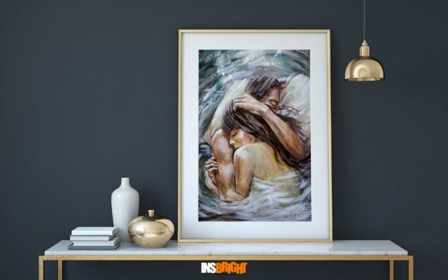 romantic painting a dream for two