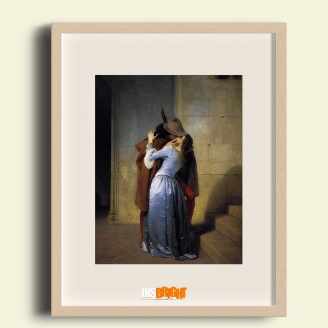the kiss oil painting