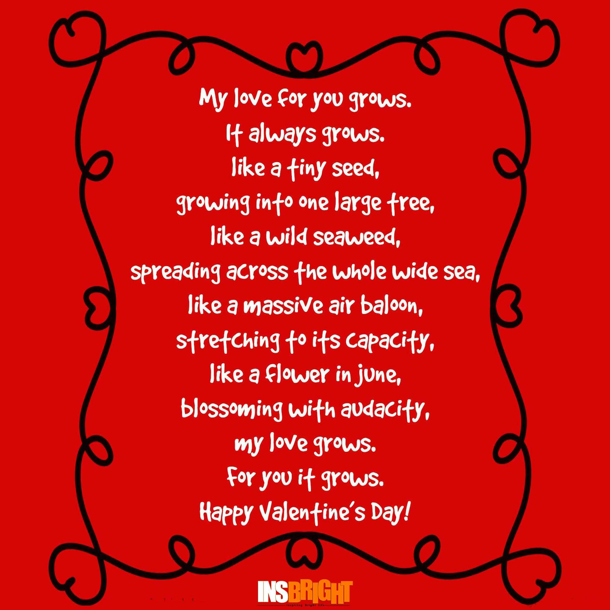 Happy Valentine S Day Poems For Him Or Her With Images 2017 Insbright