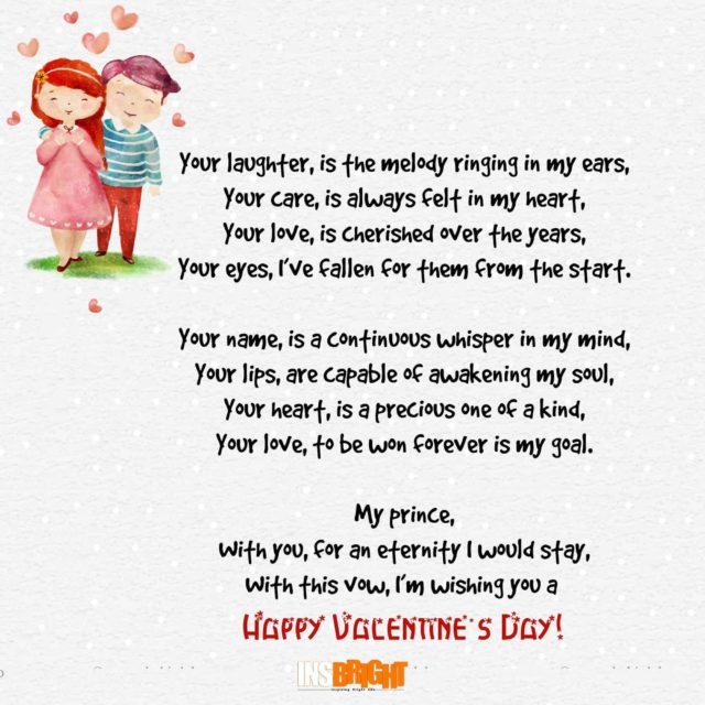 valentines poems for him
