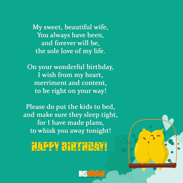 birthday poems for wife free