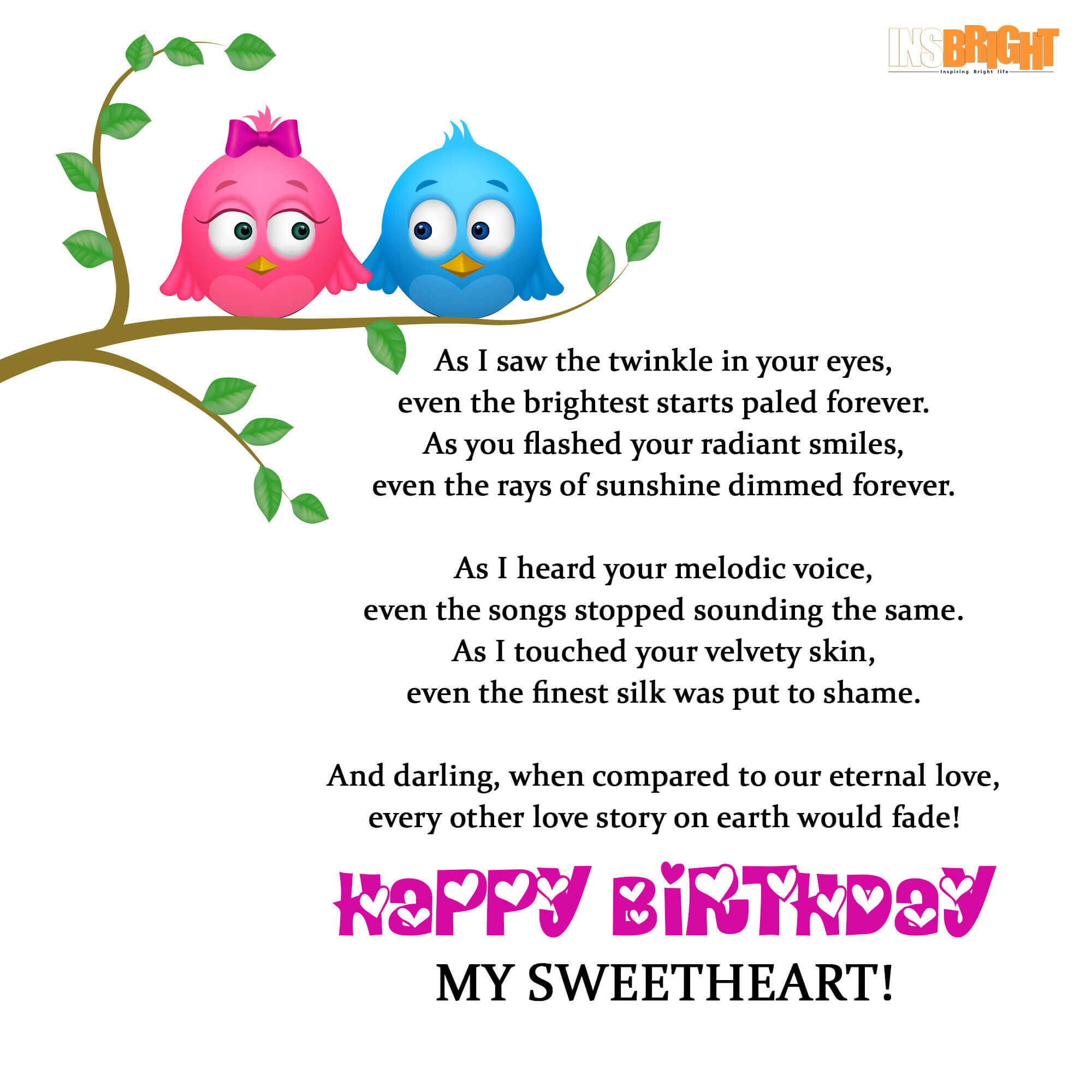 10+ Romantic Happy Birthday Poems For Wife With Love From Husband