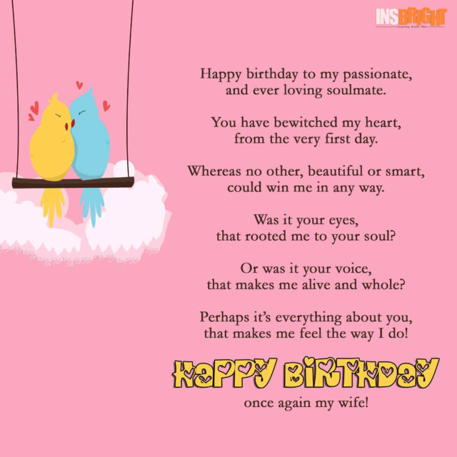 cute birthday poem for wife