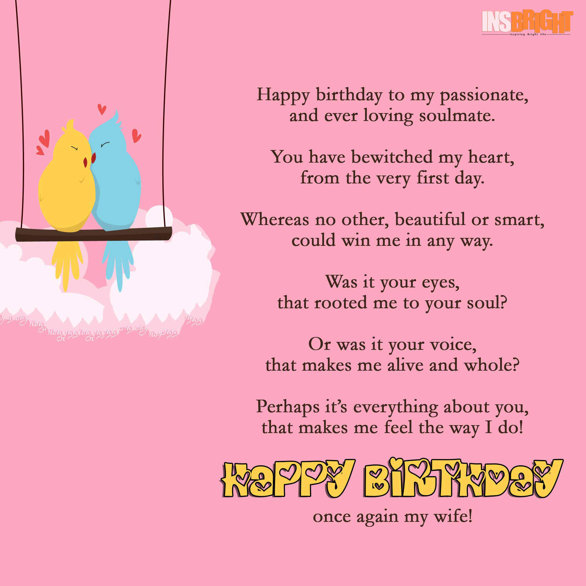 Happy birthday to my soulmate poem