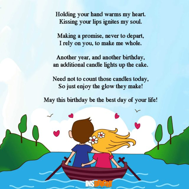 10+ Romantic Happy Birthday Poems For Wife With Love From ...