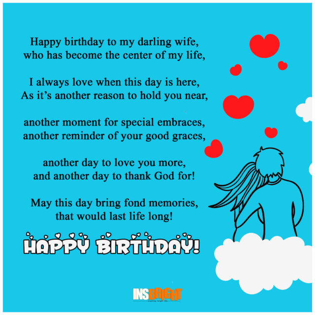 short birthday poems for wife