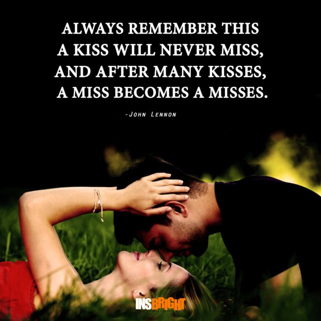 kissing quotes for her