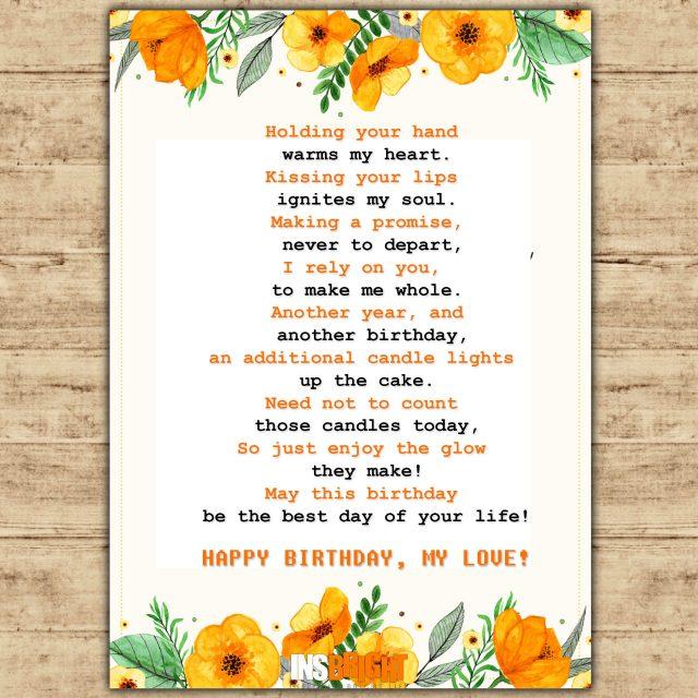 birthday poems for husband